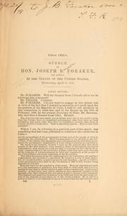 Cover of: Cuban affairs: Speech of Hon. Joseph B. Foraker, of Ohio, in the Senate of the United States, Wednesday, April 20, 1898.