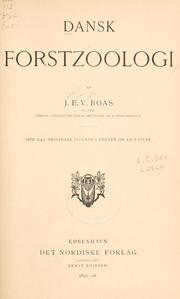 Cover of: Dansk forstzoologi