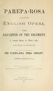 La fille du régiment by Gaetano Donizetti