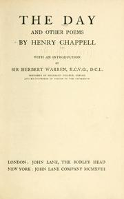 Cover of: day | Henry Chappell