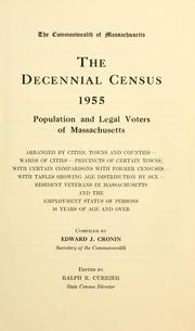 Cover of: The decennial census: 1955 | Massachusetts. Office of the Secretary of State.