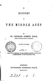 Cover of: A history of the Middle ages