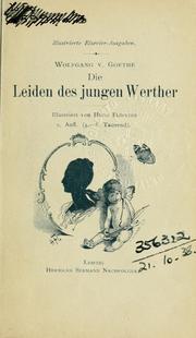 Die Leiden Des Jungen Werther 1800 Edition Open Library