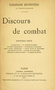 Cover of: Discors de combat