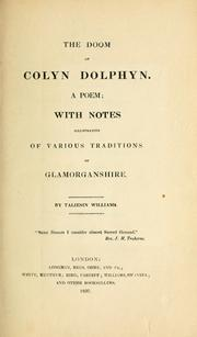 Cover of: The doom of Colyn Dolphyn | Taliesin Williams