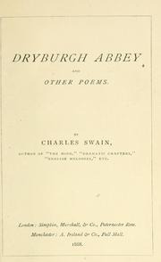 Cover of: Dryburgh Abbey and other poems | Charles Swain
