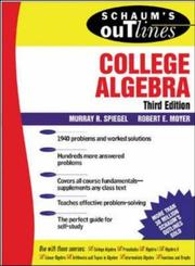 Cover of: Schaum's outline of college algebra