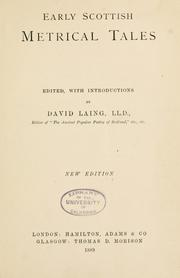 Cover of: Early Scottish metrical tales | Laing, David