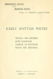 Early Scottish poetry by Eyre-Todd, George
