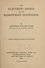 Cover of: The Electress Sophia and the Hanoverian succession