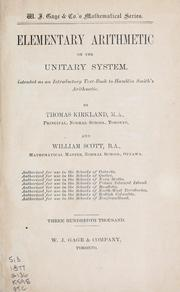 Cover of: Elementary arithmetic on the unitary system | Thomas Kirkland