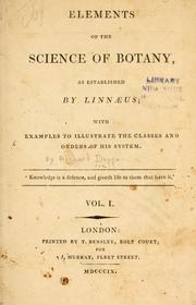 Cover of: Elements of the science of botany | Richard Duppa