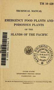 Cover of: Emergency food plants and poisonous plants of the islands of the Pacific