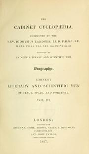 Cover of: Eminent literary and scientific men of Italy, Spain, and Portugal