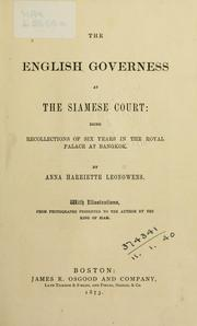Cover of: The English governess at the Siamese court | Anna Harriette Leonowens