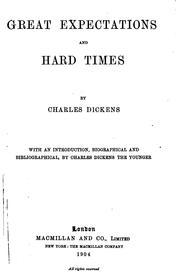 Cover of: Great Expectations ; Hard Times