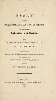 Cover of: An essay on the physiognomy and physiology of the present inhabitants of Britain