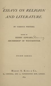 Cover of: Essays on religion and literature