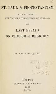 Cover of: St. Paul & Protestantism | Matthew Arnold