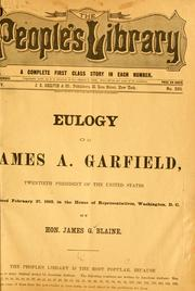 Cover of: Eulogy on James A. Garfield, twentieth president of the United States