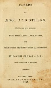 Cover of: Fables of Æsop and others