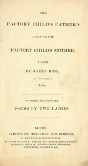 Cover of: A factory child's father's reply to The factory child's mother