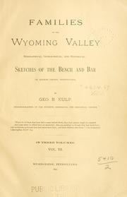 Families of the Wyoming Valley by Kulp, Geo. B.