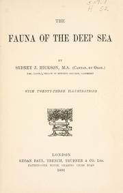 Cover of: fauna of the deep sea | Sydney John Hickson