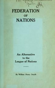 Cover of: Federation of Nations