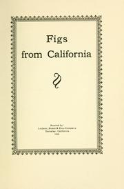 Cover of: Figs from California. |