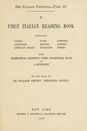 Cover of: A first Italian reading book