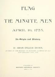 Cover of: Flag of the minute men | Abram English Brown