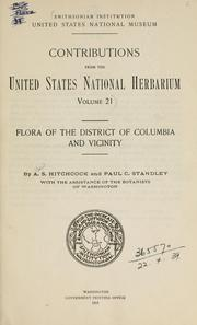 Cover of: Flora of the District of Columbia and vicinity