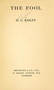 Cover of: The fool. | H. C. Bailey