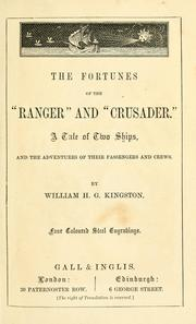"Cover of: The fortunes of the ""Ranger"" and ""Crusader"""