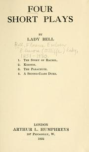Cover of: Four short plays | Bell, Florence Eveleen Eleanore Olliffe Lady