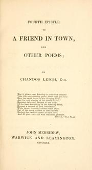 Cover of: Fourth epistle to a friend in town, and other poems