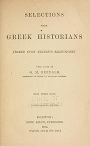 Cover of: Selections from Greek historians