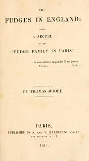 "Cover of: The Fudges in England: being a sequel to the ""Fudge family in Paris"""