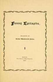 Cover of: Funny epitaphs