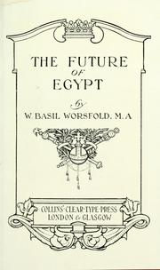 Cover of: The future of Egypt