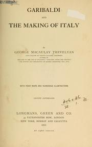Garibaldi and the making of Italy by George Macaulay Trevelyan