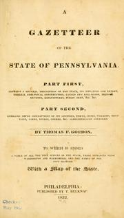 A gazetteer of the state of Pennsylvania by Thomas Francis Gordon