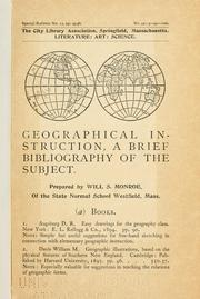 Cover of: Geographical instruction