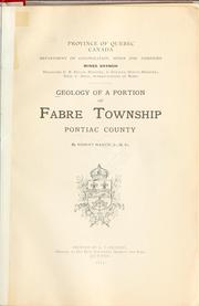 Cover of: Geology of a portion of Fabre Township, Pontiac County | Robert Harvie