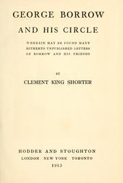 Cover of: George Borrow and his circle