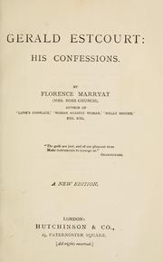 Cover of: Gerald Estcourt: his confessions