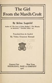Cover of: The  girl from the Marsh Croft | Selma Lagerlöf