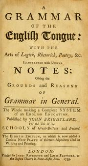 Cover of: Grammar of the English tongue