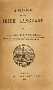 Cover of: A grammar of the Irish language